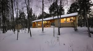 A dogtrot cabin in Finland   K S Architects   Small House BlissThis small family vacation cabin combines a dogtrot floor plan   a Nordic design aesthetic