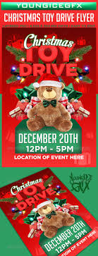 christmas toy drive flyer template by youngicegfx graphicriver christmas toy drive flyer template holidays events