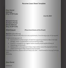 educational   graphics and templatesresume cover sheet template