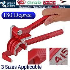 <b>3 IN 1 180</b> Degree Pipe Bender Manual Tube Bending Tool Hand ...