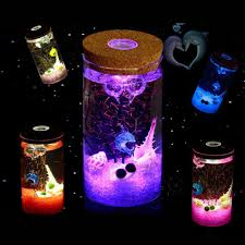 HOT SALE   LED Cork Globe Terrarium Glass Jar Hydroponic Light ...