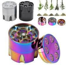 <b>3 Layers</b> Rainbow Zinc Alloy <b>Mini</b> Portable Herb Crusher Handy ...
