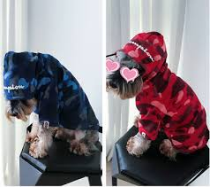 <b>2019 Newly Hot</b> BAPE Camo Pet Dog Cat Winter Clothes Coat ...