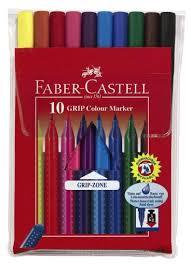 КАНЦ <b>Фломастеры Faber-Castell</b> '<b>GRIP</b>' <b>10</b> цв. п/у FC155310