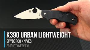 <b>Spyderco Urban Lightweight</b> K390 Gray FRN Sprint Run Overview ...