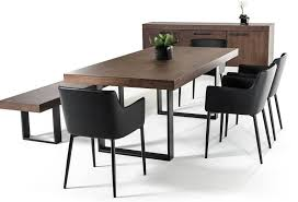 walnut dining table modern kitchen