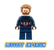 LEGO Minifigure <b>Captain America</b> - <b>Avengers</b> Infinity War minifig ...