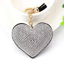<b>Кисточкой</b> Кристалл <b>кожаный брелок</b> Для женщин сердце ...