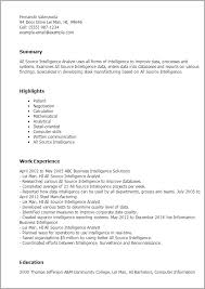 professional all source intelligence analyst templates to showcase    resume templates  all source intelligence analyst