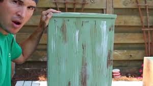 how to paintdistressantique furniture project 1 painted green refinished and distressed youtube antiquing wood furniture