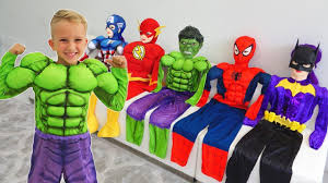 Vlad turns into a <b>superheroes</b> | Compilation video for children ...