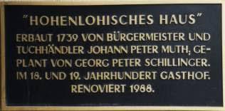 Dorothea Maria geb. Heinle und Johann Peter Muth in Öhringen - muth2