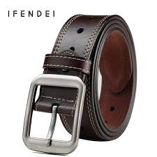 <b>IFENDEI</b> Genuine <b>Leather Belt Men</b> New <b>Designer</b> Pin Buckle Fatty ...