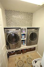 Contemporary Laundry Room With Carpet 42 Cu Ft Front Load Washer Steam  C