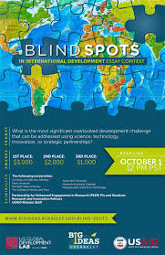 big ideas  usaid and big ideas berkeley launch essay competition blind spots essay contest flyer
