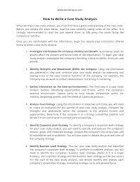how to write a case study analysis  case study analysis paper    how to write a case study analysis