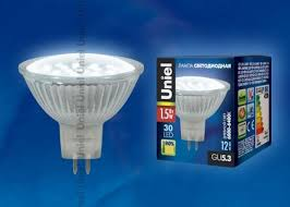 (Вт) 6400k 105lm 12V 45x50 (<b>LED</b>-<b>MR16</b>-<b>SMD</b>-<b>1</b>,<b>5W</b>/<b>DW</b>/<b>GU5</b>.<b>3</b>)