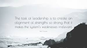 peter f drucker quote the task of leadership is to create an peter f drucker quote the task of leadership is to create an alignment