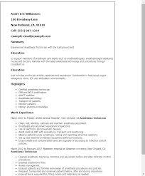 professional anesthesia technician templates to showcase your    resume templates  anesthesia technician