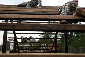 u s department of defense photo essay paratroopers weave through the over under part of the team assault course competition