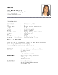 how to make a biodata for job application receipts template 7 how to make a biodata for job application
