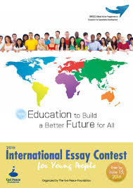 past contests the goi peace foundation education to build a better future for all