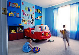 decor red blue room full: bedroom great tween boy room design idea with red car bed frame blue wall and colorful home decor