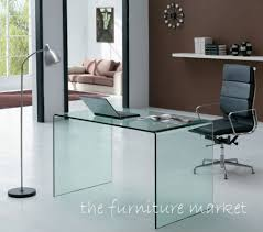 desk design ideas geo modern designer glass desks interior design home decorations square black chair amazing glass office table