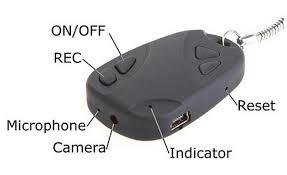 Móc chìa khóa camera, Móc chìa khóa ngụy trang quay phim, Bật lửa camera