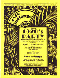 cafe melange images articles bars and clubs in the history of advertising flyer poster circa 1989 graphic design and artwork for all these flyers by d h cass magnuski