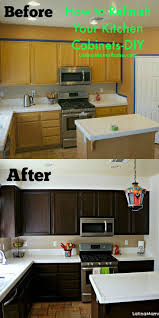 st charles kitchen cabinets: how to refinish your kitchen cabinets so simple and it looks amazing