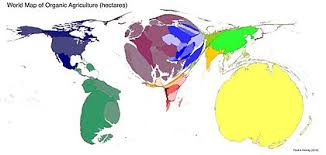 organic farming   wikipediaworld map of organic agriculture  hectares