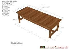 dining table woodworkers: home garden plans ds dining table set plans woodworking plans