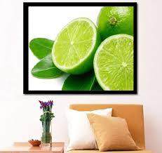 2019 Retail 5D <b>Diamond Painting</b> Green <b>Lemon</b> Fruit Rhinestone ...