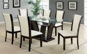 Dining Room Sets 6 Chairs Exotic Home Furnishing Ideas With Black High Gloss Round Wooden