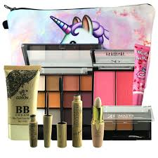 GORON 9PCS Makeup Set Eyeshadow BB Cream <b>Eyebrow</b> Powder ...