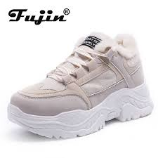 <b>FUJIN Women</b> Casual <b>Sneakers</b> Winter <b>Sneakers</b> Plush Fur Warm ...