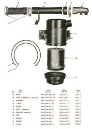 willys jeep parts diagrams illustrations from midwest jeep willys air cleaner l 134 mb cj2a cj3a