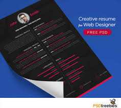40 creative resume templates for job seekers creative resume for web designer