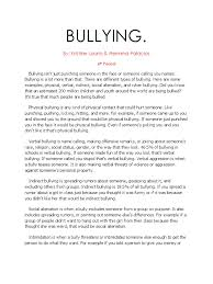 bullying research paper bullying