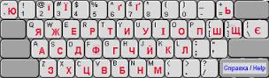 Virtual Cyrillic keyboard