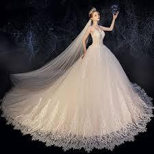 High-end <b>Champagne Wedding</b> Dresses 2019 A-Line / <b>Princess</b> ...