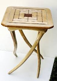 a table by paul troyano bark furniture