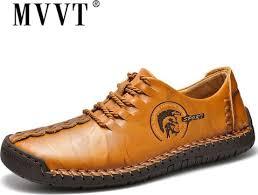 Plus Size Fashion Men Shoes <b>Split Leather Men</b> Shoes Casual ...