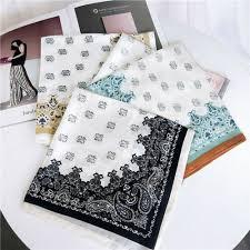 comfortable Women Fashion Paisley Print <b>Scarf Bandana</b> Faux <b>Silk</b> ...