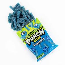 SOUR PUNCH <b>Bites</b>, <b>Blue</b> Raspberry <b>Candy</b>, 5oz Bag – American ...