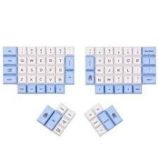 DSA ERGO Dye Sub <b>keycap White</b> and NAVY color 95 keys within ...