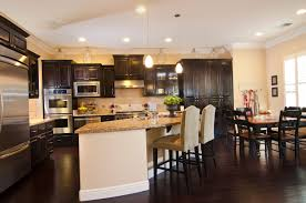 Wood Floor Kitchen 34 Kitchens With Dark Wood Floors Pictures