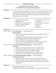 job resume   office assistant resume example office assistant    quote of executive assistant resume sample