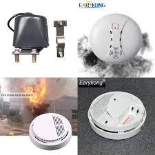 85dB <b>Fire Smoke</b> Photoelectric <b>Sensor Detector</b> Monitor Home ...